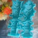 Robot Machine Shaped Fondant Cookie Cutter Stencil Press Mold Stamp