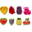 Fruit Shaped Fondant Cookie Cutter Plungers - Box Set
