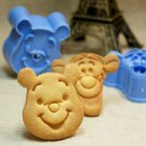 Winnie & Tigger Fondant Toast Cookie Cutter Stamp Stencil Mold Press