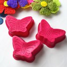 Silicone Butterfly Cake Chocolate Pan Tray Mold - Set of 3