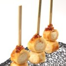 Double Pronged Bamboo Party Skewers Appetizer Picks Toppers Stirrers