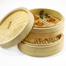 "8"" Inch Bamboo Steamer - 2 Tiers"