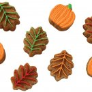 Apple Pumpkin Leaf Leaves Chocolate Candy Cake Soap Candle Mold Pan