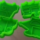 Transportation RR Train Helicopter Plane Truck Cookie Cutter Plunger Stencil