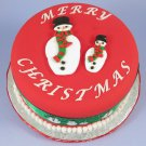 Snowman Fondant Cookie Cutter Plunger Stencil Press Stamp Mold - Set of 2