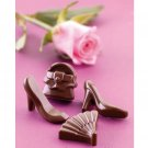 Silicone Fashion Shoes Purses & Fans Chocolate Candy Soap Candle Mold Pan Tray
