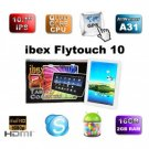 "10.1"" IPS iBex Flytouch 10 Quad Core Tablet PC A31 Google GPS Android 4.1.1"