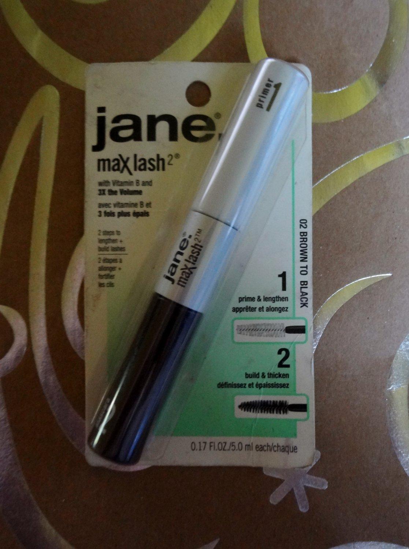 "Jane Max Lash Volumizing Mascara 02 with Vitamin B on ""Brown to Black"""