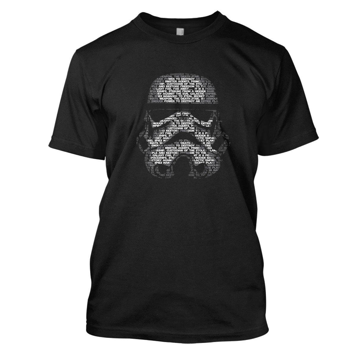 Star Wars: Stormtrooper Mens Movie T-Shirt Large Black