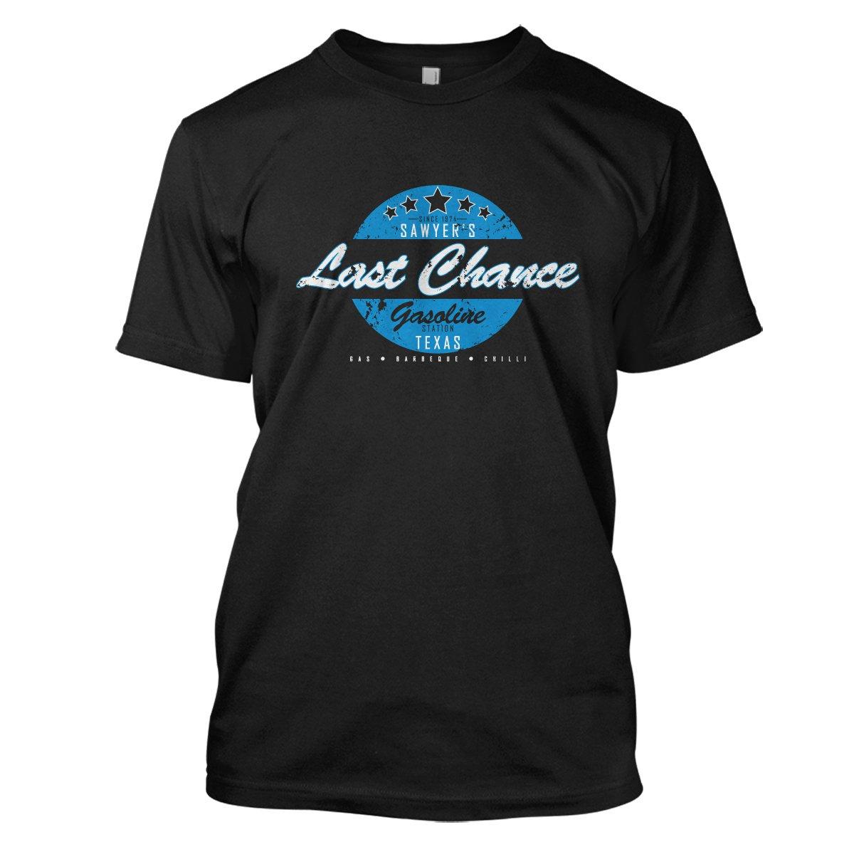 Texas Chainsaw Massacre: Last Chance Gas Mens Movie T-Shirt Large Black