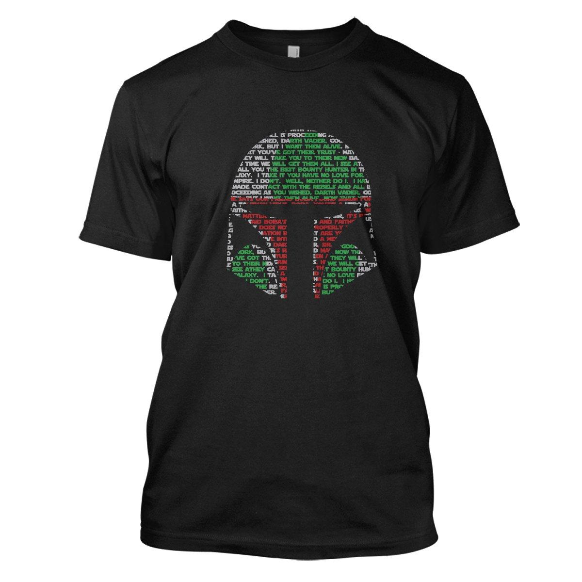 Star Wars: Boba Fett Mens Movie T-Shirt Large Black