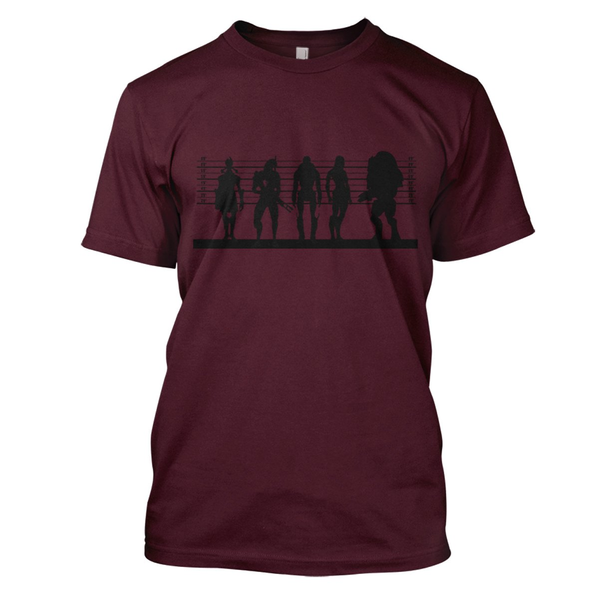 Mass Effect Suspects Mens Gaming T-Shirt Large Maroon