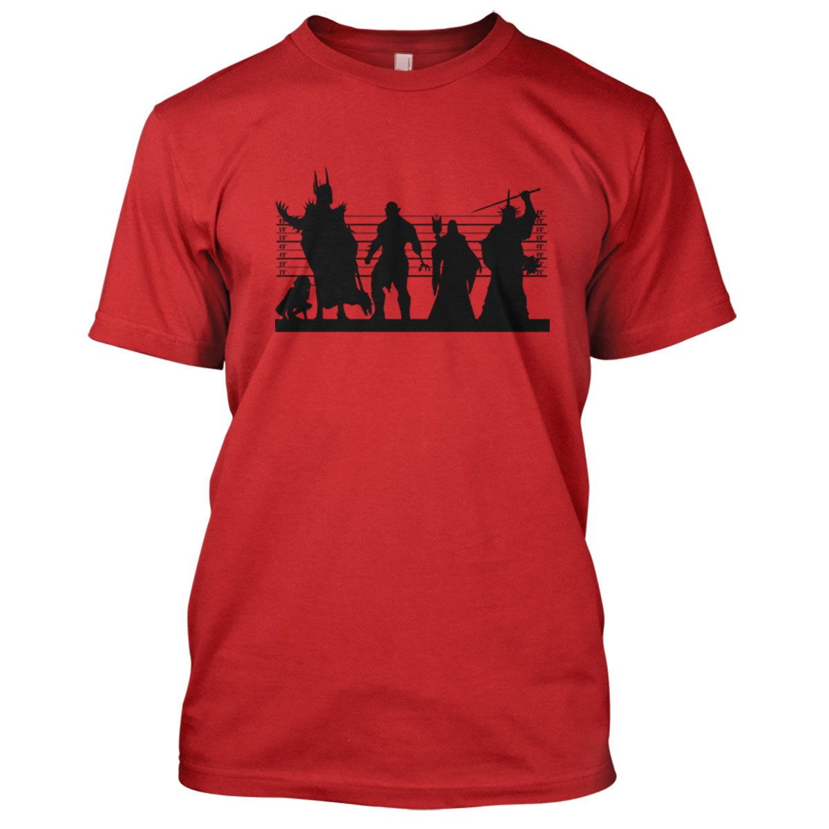 Lotr: Middle Earth Suspects Mens Movie T-Shirt Large Red