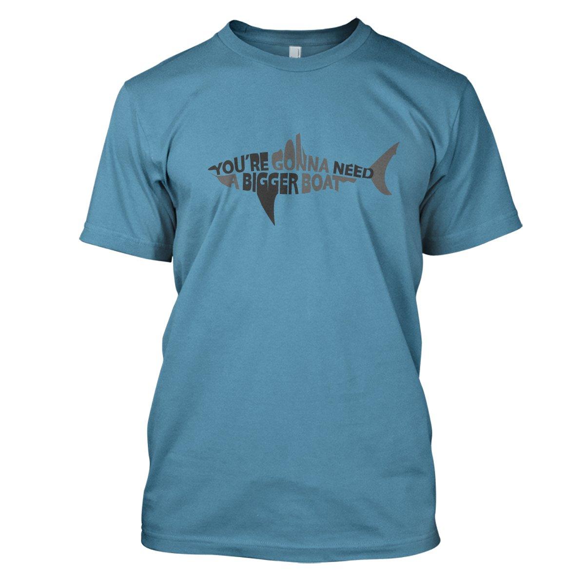 Jaws: Bigger Boat Mens Movie T-Shirt Large Sky