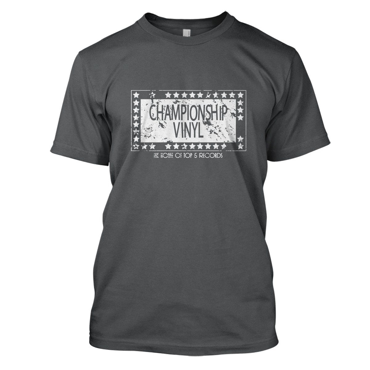 High Fidelity: Championship Vinyl Mens Movie T-Shirt Large Charcoal