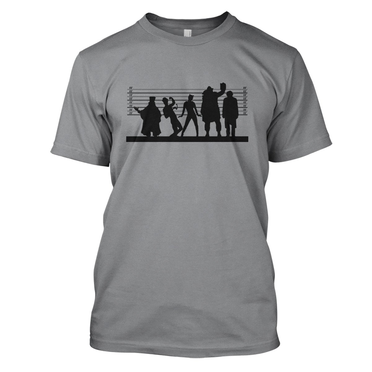 Batman: Gotham Suspects Mens Movie T-Shirt Large Grey