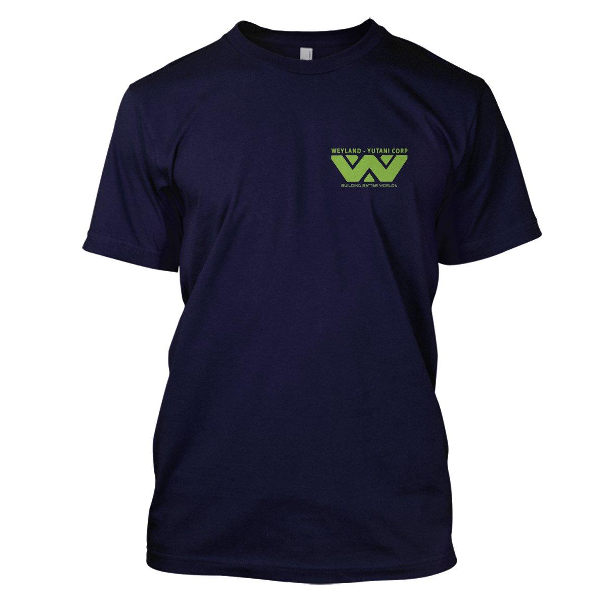 Alien: Weyland Yutani Mens Movie T-Shirt Large Navy