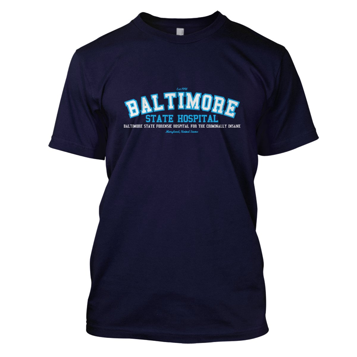 The Silence Of The Lambs: Baltimore State Hospital Mens Movie T-Shirt Small Navy