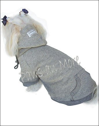 Blank Hooded Dog Sweatshirts_Grey