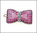 Swarovski Crystal Ribbon Hair Pin