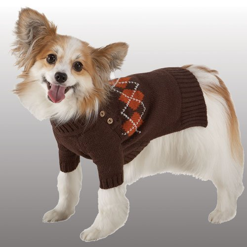 Luxury Sweater Brown with Argyle