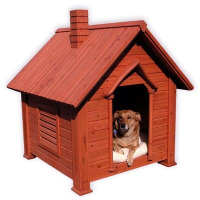 Pet Chalet Cedar Dog House - Medium