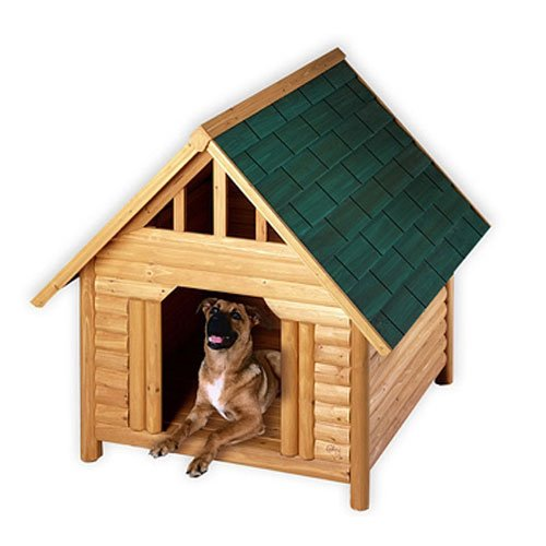 Log Cabin Cedar Dog House - Large