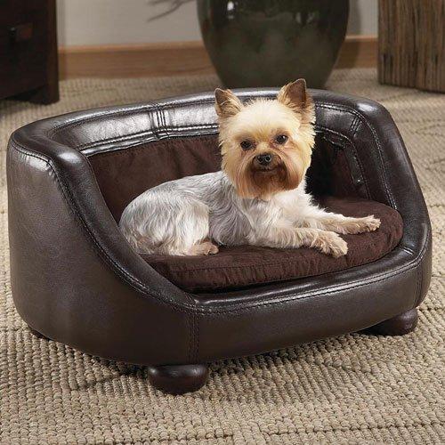 Faux Leather Dog Sofa - Small