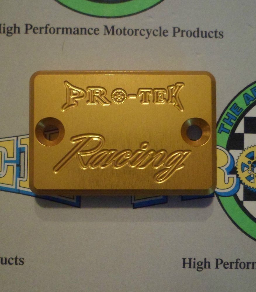 1997-2005 Suzuki GSF1200S Bandit Gold Rear Brake Fluid Reservoir Cap Pro-tek RC-800G