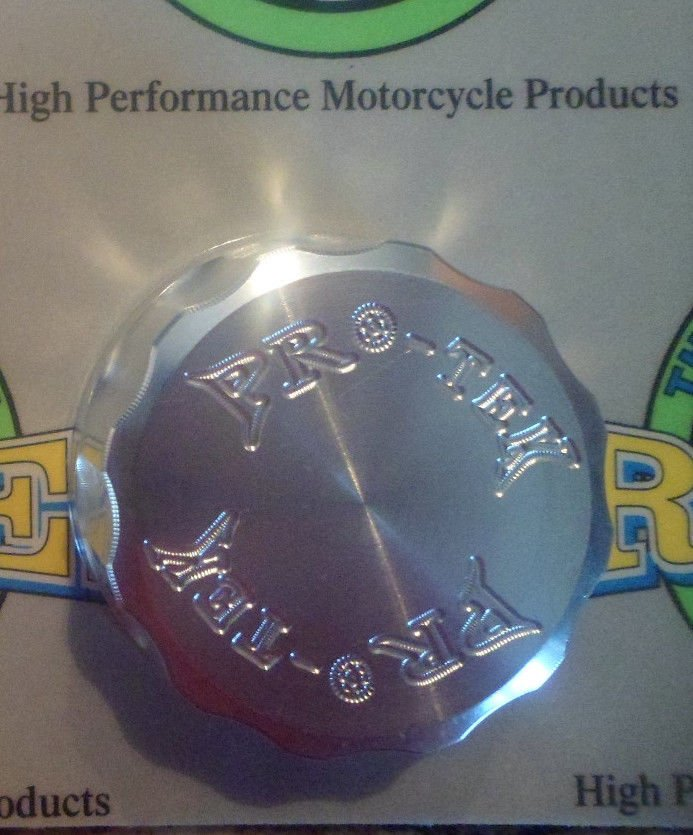 2006-2009 Yamaha YZF R6S Silver Rear Brake Fluid Reservoir Cap YZF-R6S Pro-tek RC-250S
