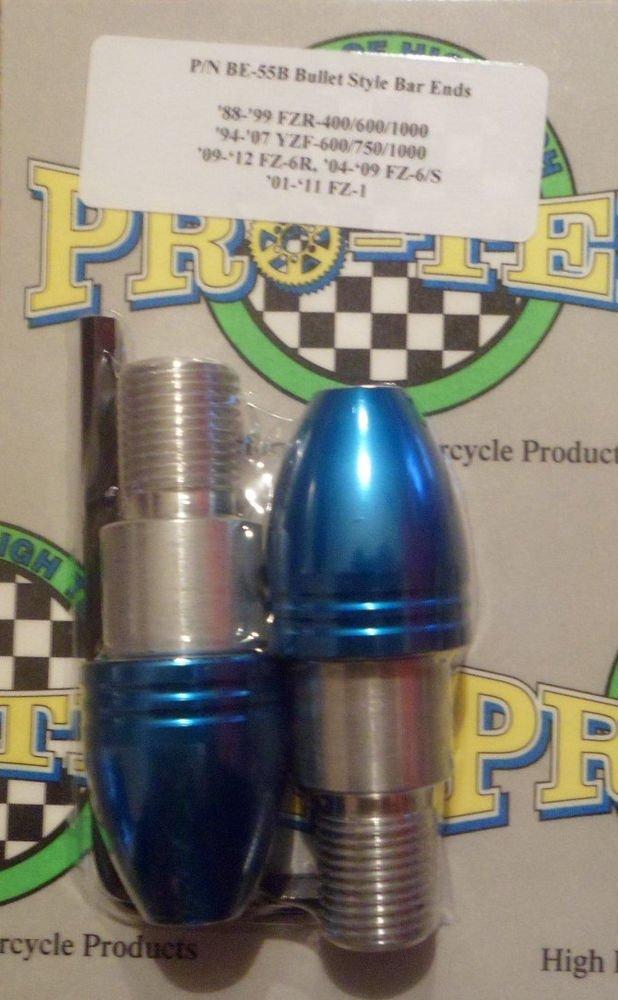 2009-2015 Yamaha FZ6R Blue Bar Ends FZ-6R Pro-tek BE-55B Bar Ends