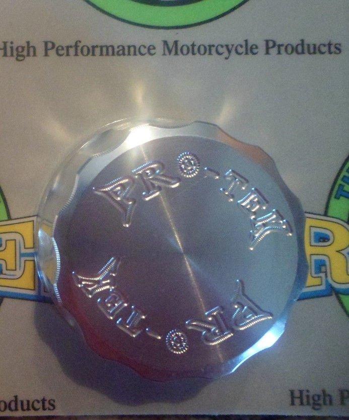2004-2009 Yamaha FZ6 Silver Rear Brake Fluid Reservoir Cap FZ-6 Pro-tek RC-250S