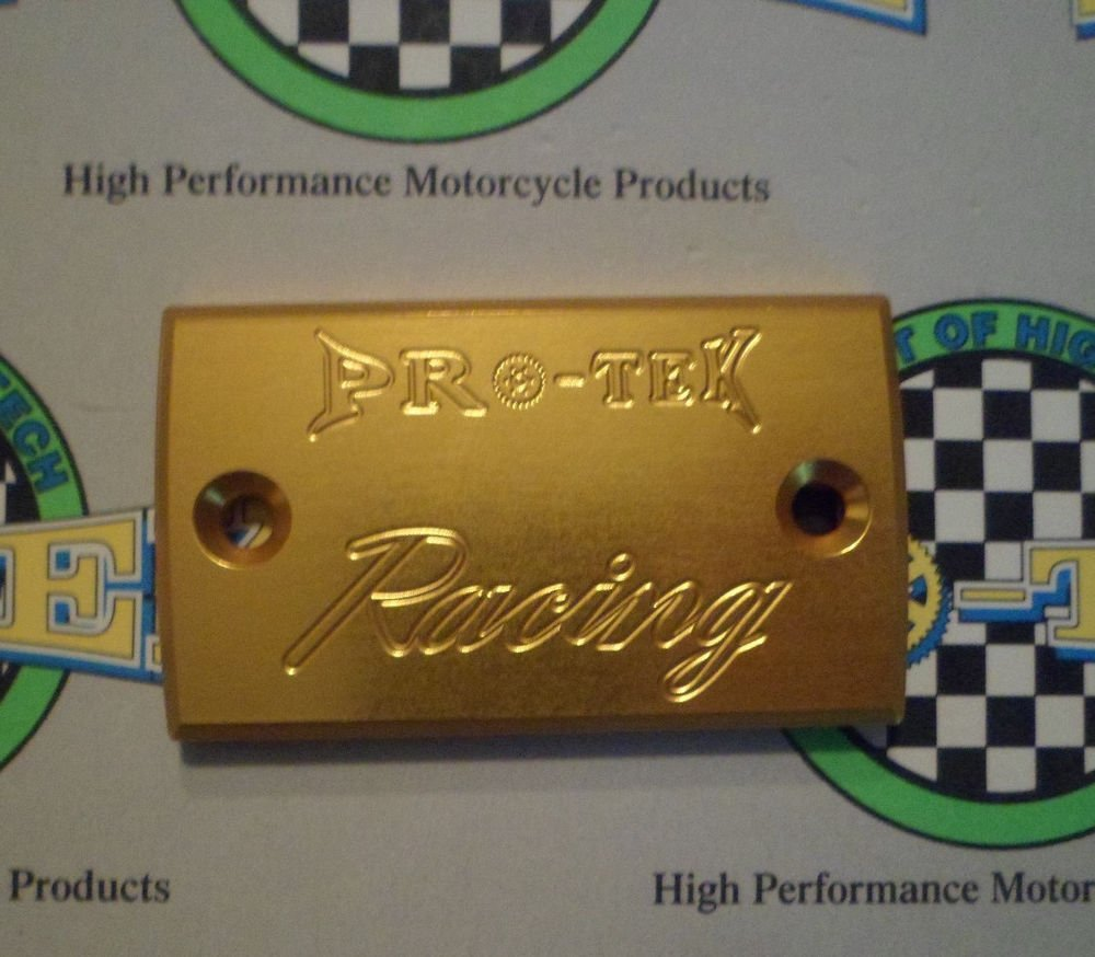1993-1998 Suzuki GSXR1100W Gold Front Brake or Clutch Fluid Reservoir Cap GSXR-1100W Pro-tek RC-600G