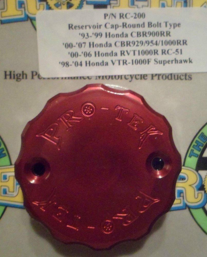 2000-2003 Honda CBR929 CBR954 Red Front Brake Fluid Reservoir Cap CBR-929 CBR-954 Pro-tek RC-200R
