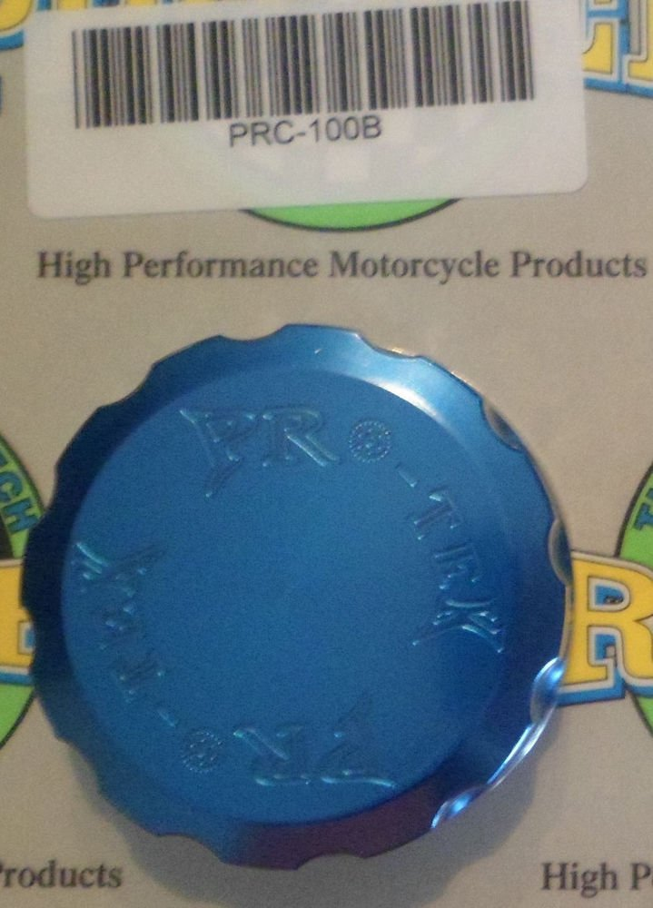 1998-2006 Kawasaki Ninja ZX6R ZX6RR Blue Front or Rear Brake Fluid Reservoir Cap Pro-tek RC-100B