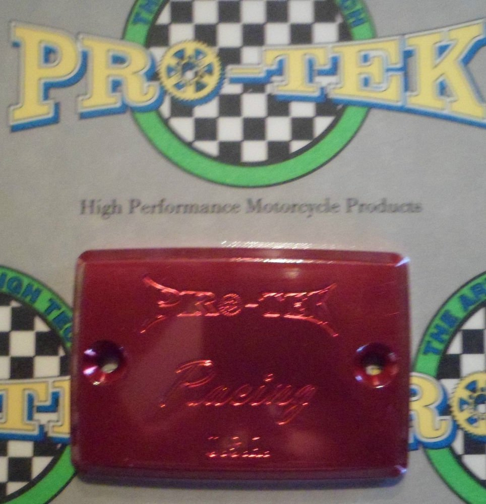 2001-2005 Kawasaki ZRX1200 Red Front Brake or Clutch Fluid Reservoir Cap ZRX-1200 Pro-tek RC-550R