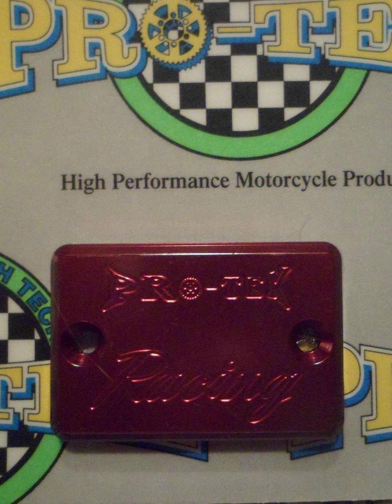 2004-2007 Honda CBR 1000RR Red Rear Brake Fluid Reservoir Cap CBR-1000RR Pro-tek RC-800R