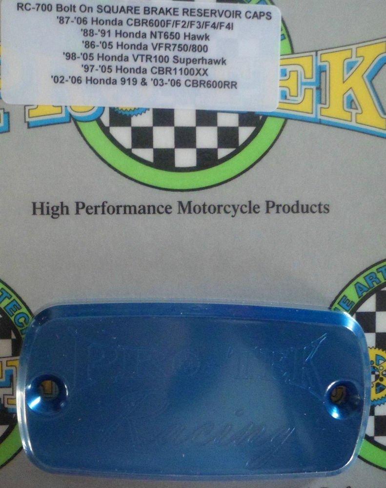 1997-2003 Honda CBR1100XX Blue Front Brake Fluid or Clutch Fluid Reservoir Cap Pro-tek RC-700B
