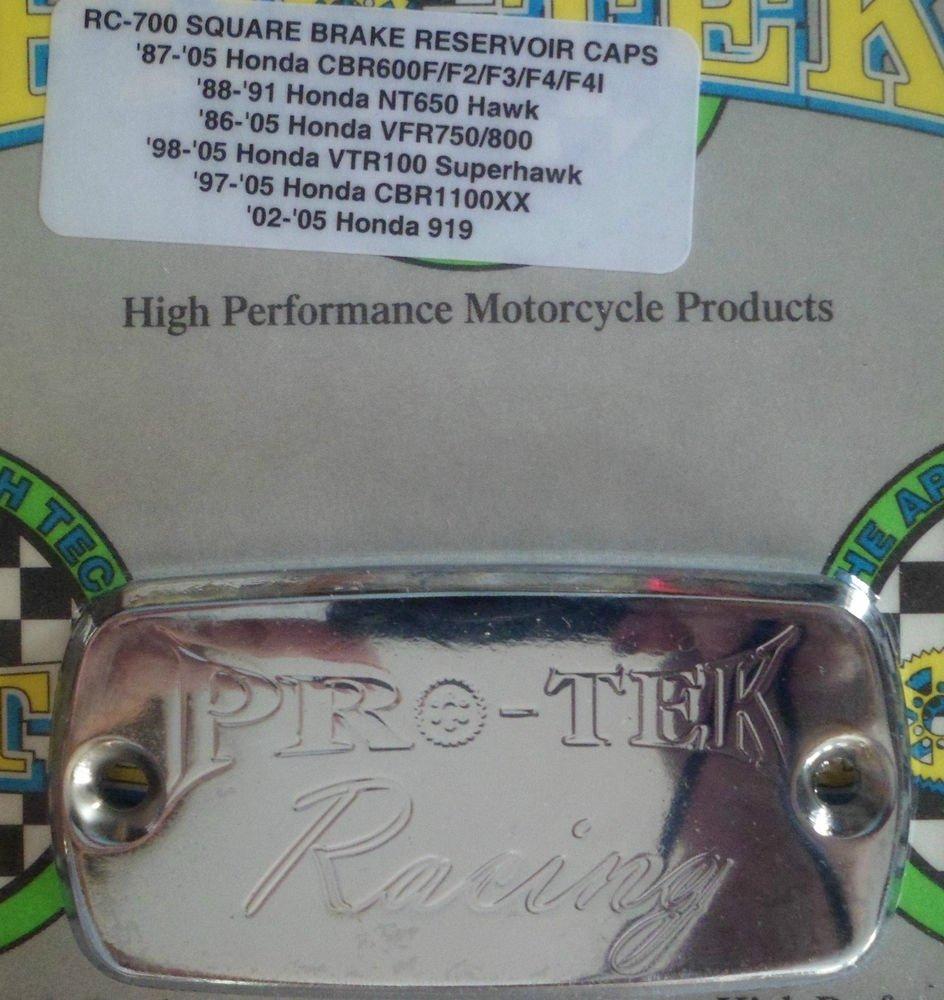 2003-2006 Honda CBR 600RR Chrome Front Brake Fluid Reservoir Cap CBR-600RR Pro-tek RC-700C