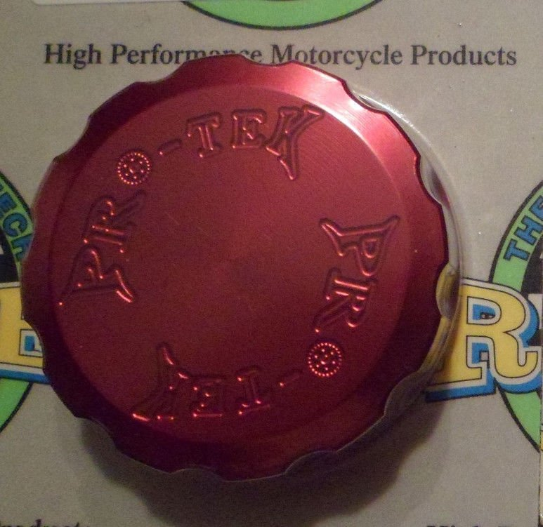 1994-1997 Yamaha YZF750R Red Rear Brake Fluid Reservoir Cap YZF-750R Pro-tek RC-175R