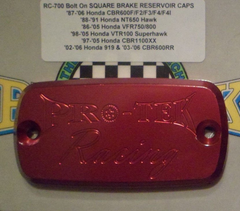 2003-2014 Honda ST1300 Red Front Brake Fluid or Clutch Fluid Reservoir Cap ST-1300 Pro-tek RC-700R
