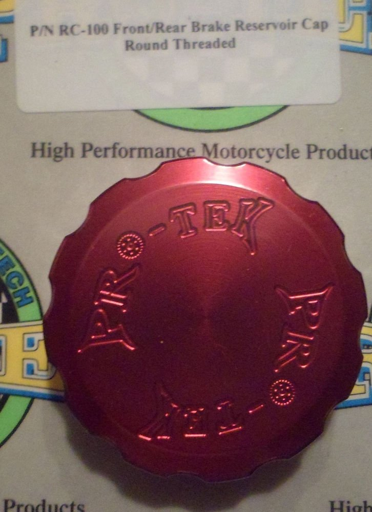 2000-2003 Honda CBR929 CBR954 Red Rear Brake Fluid Reservoir Cap Pro-tek RC-100R