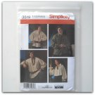 Simplicity Pattern 3519 Size XS - XL Theresa LaQuey Misses Men Teen Unisex Peasant Shirts Costumes