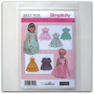 "Simplicity Pattern 3547 One Size Elaine Heigl Designs 18"" Doll Clothes"