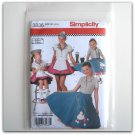Simplicity Pattern 3836 Size 3 - 6 Andrea Schewe Childs Girls Diner Waitress Halloween Costumes