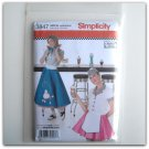 Simplicity Pattern 3847 Size 14 - 22 Andrea Schewe Misses Diner Waitress Halloween Costumes