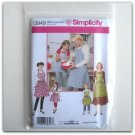 Simplicity Pattern 3949 Size S - L Designs By Teri Child Girls Misses Aprons
