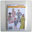 Simplicity Pattern 3987 Size 3 - 6 Out Of Print Childs Girls Boys Nightgown Pajamas