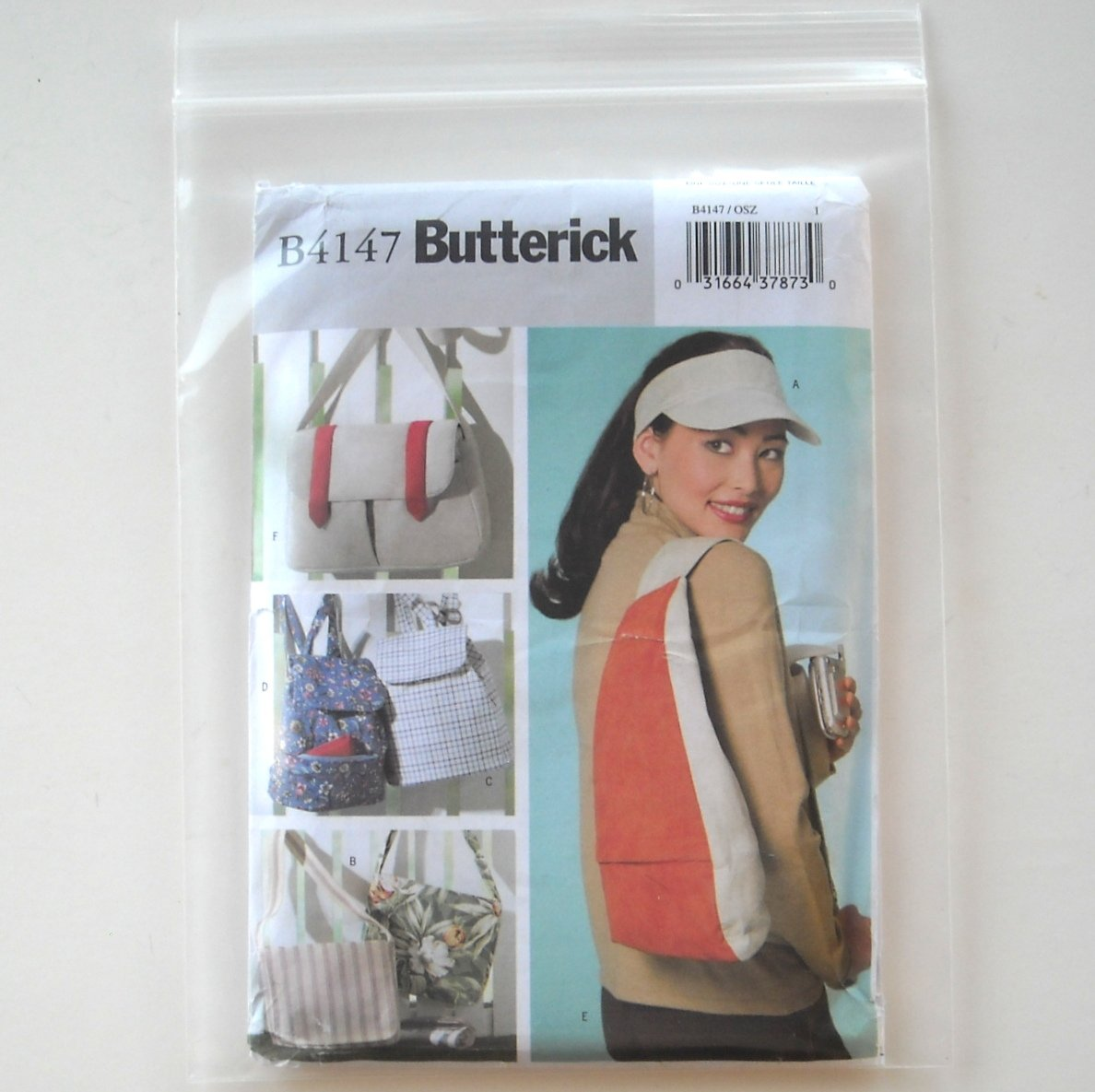 Butterick Pattern B4147 Visor Utility Backpack Fishermans Bags
