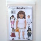 Butterick Pattern B3491 One Size 18 Inches Doll Wardrobe Clothes